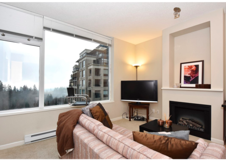 Clean and Bright Open Concept Condo with Great View in NOVO, SFU